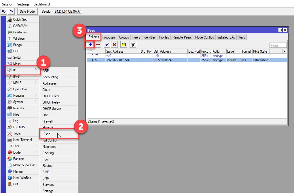 VPN : คู่มือการตั้งค่า MikroTik เชื่อมต่อ VPN แบบ Site-to