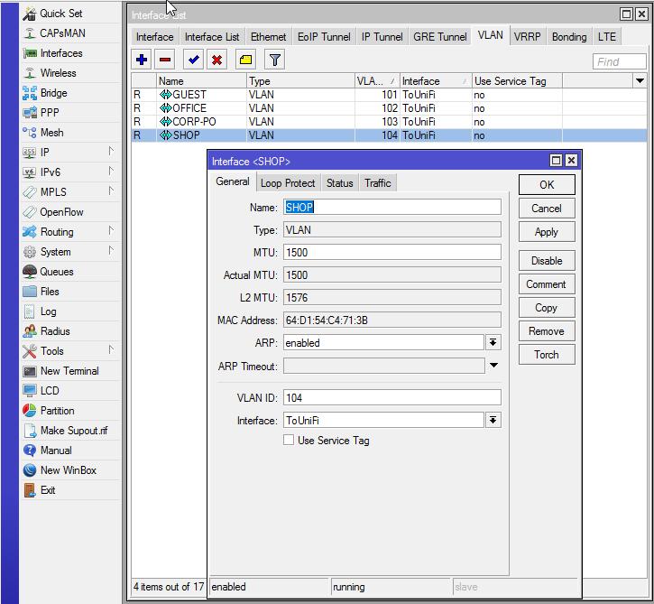 คู่มือการตั้งค่า MikroTik เซต VLAN ปล่อยไร้สาย Multi SSID